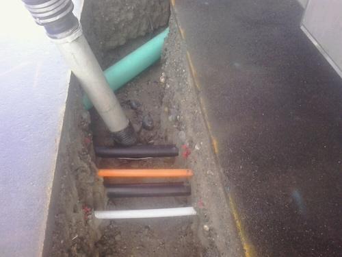 Pump in a septic tank