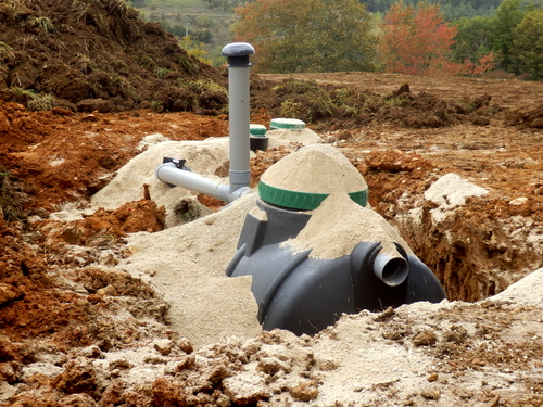 septic tanks in ground
