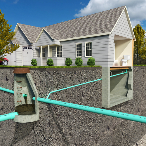 diagram of septic system in house