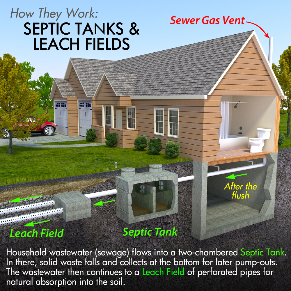 visual rendering of septic system