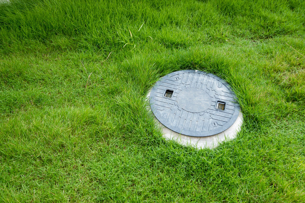 septic tank cover in residential property